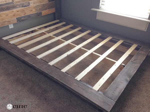 Amazing Queen Size Bed Planks Easy Diy Platform Bed Shanty 2 Chic