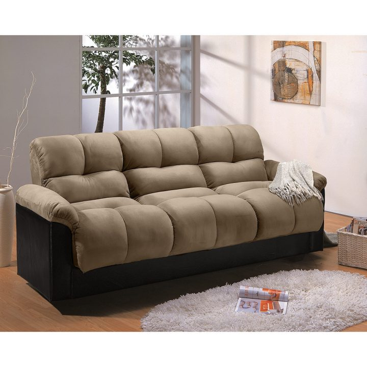 Amazing Queen Size Futon With Storage Living Room Convertible Sofa Sleeper Couch With Cup Holders
