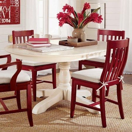 Amazing Red Dining Room Chairs Paint Dining Table And Chairs With Rust Oleum 2x Cranberry Color