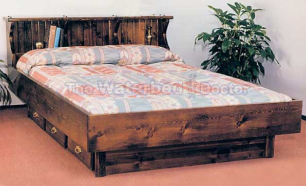 Amazing Regular Mattress In Waterbed Frame Quality Waterbed Furniture The Waterbed Doctor