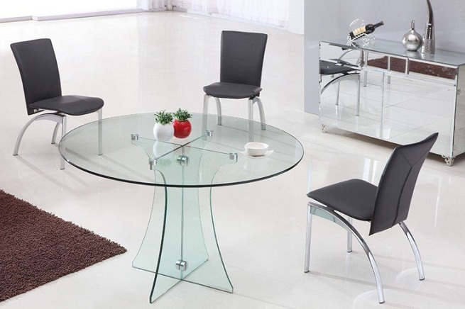 Amazing Round Glass Dining Table Ikea Amplify Dinette Appearance With Glass Round Dining Table Home