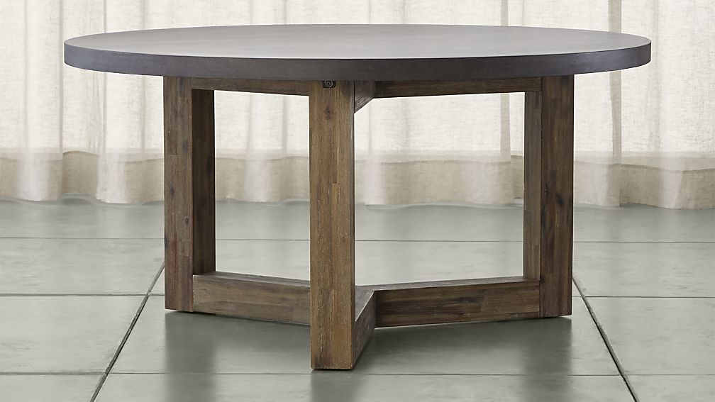 Amazing Round Solid Wood Dining Table Woodward Round Dining Table With Solid Wood Base Crate And Barrel