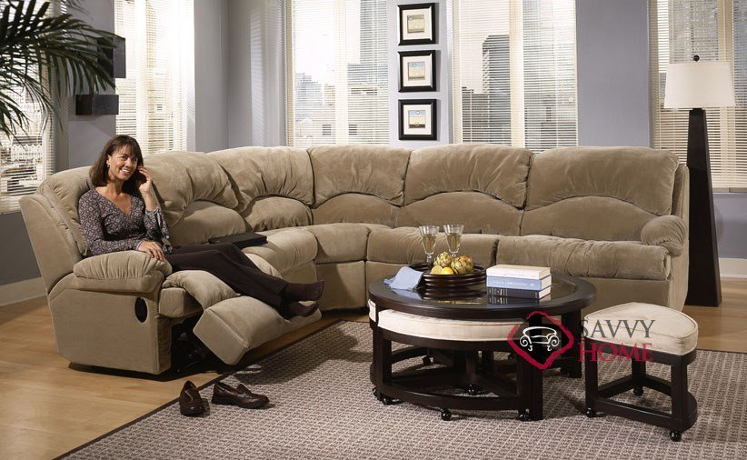 Amazing Sectional Sleeper Sofa With Recliners Milan Fabric True Sectional Savvy Is Fully Customizable You