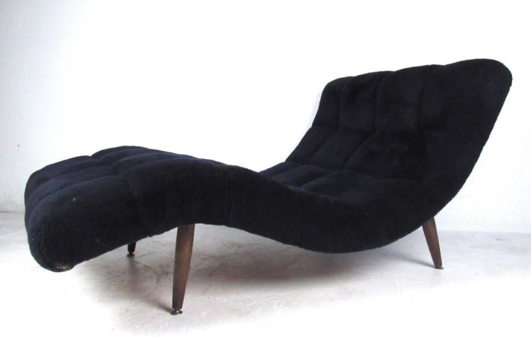 Amazing Short Chaise Lounge Chair Furniture Curved Black Velvet Chaise Lounge Chairs With Back And