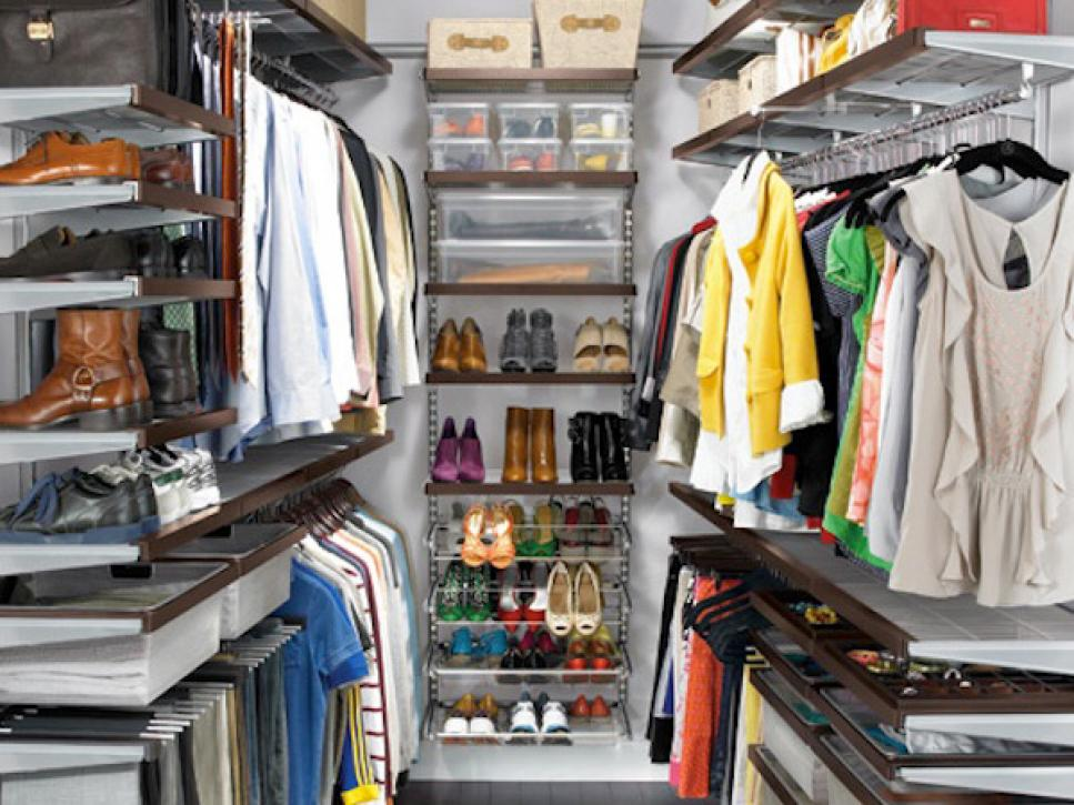 Amazing Small Walk In Closet Organization Closet Storage Ideas Hgtv