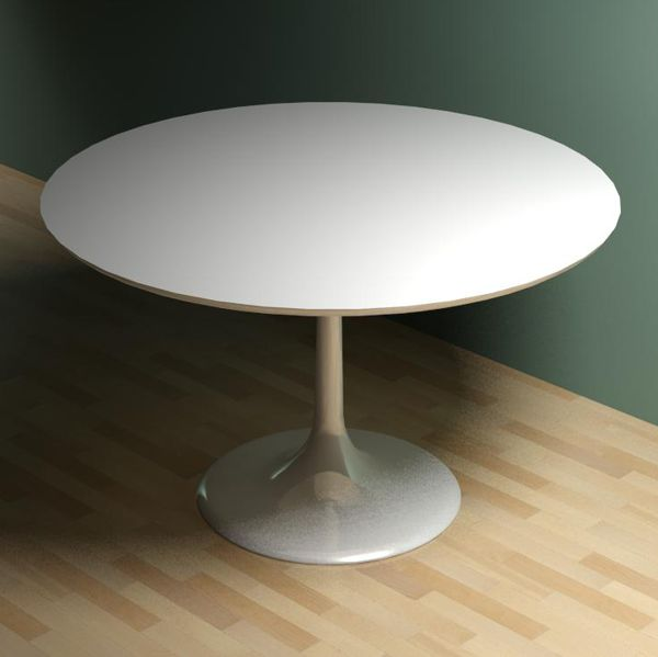 Amazing Small White Round Dining Table Saarinen Round Dining Table 3d Model Formfonts 3d Models Textures