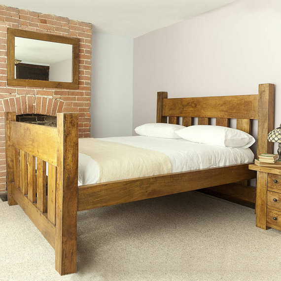 Amazing Solid King Bed Frame Solid Wood King Bed Frame Genwitch
