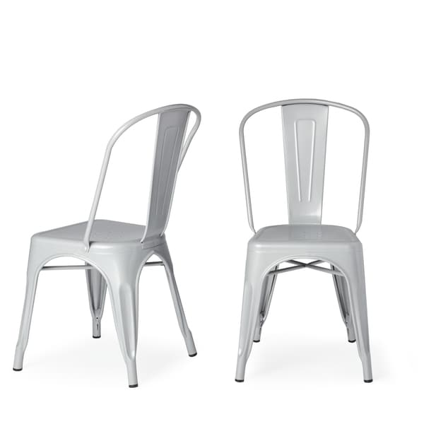 Amazing Steel Dining Chairs Tabouret Bistro Steel Dining Chairs Set Of 2 Free Shipping