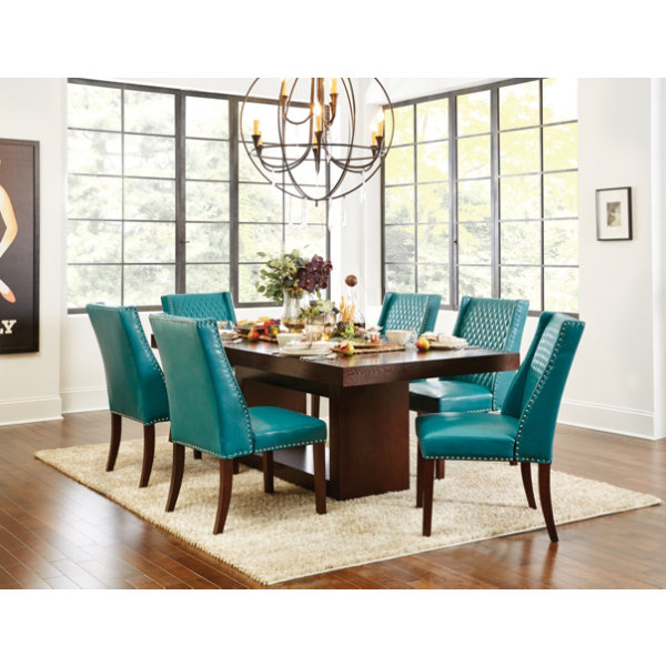 Amazing Teal Dining Table And Chairs Simple Colorful Dining Chairs With Antonio Table Teal Chairs