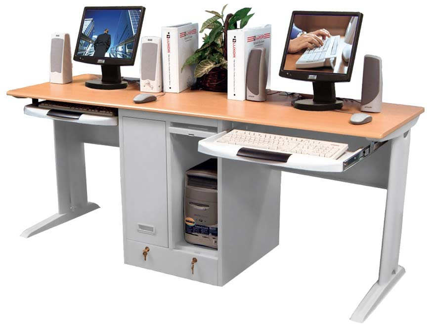 Amazing Two Station Computer Desk How To Take Care Of A Computer Desk Work Station Furniture Depot