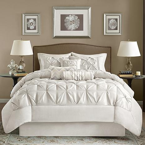 Amazing White California King Bed Madison Park White Laurel Comforter Set California King