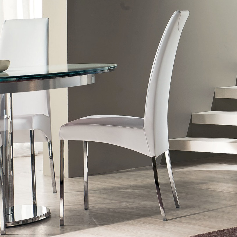 Amazing White Leather High Back Dining Chairs Modern White Leather Dining Room Chairs Dining Chairs Design