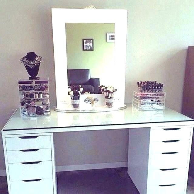 Amazing White Makeup Vanity With Storage White Make Up Vanity Makeup Desk Vanity White Makeup Desk White