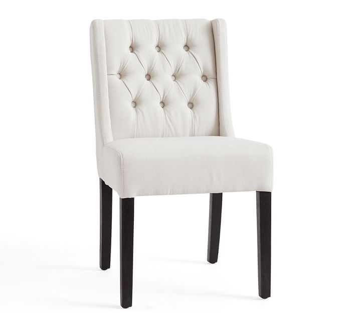 Amazing White Tufted Dining Chairs Sorrel Tufted Upholstered Dining Chair Pottery Barn