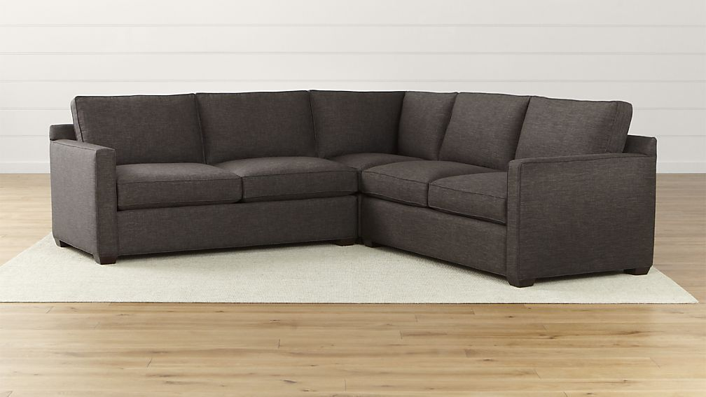Attractive 3 Piece Sectional Couch Davis 3 Piece Sectional Sofa Crate And Barrel