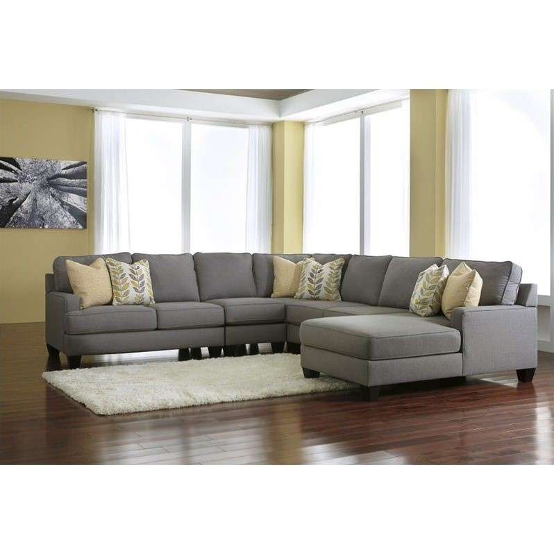 Attractive 5 Piece Sectional Couch Signature Design Ashley Furniture Chamberly 5 Piece Sectional