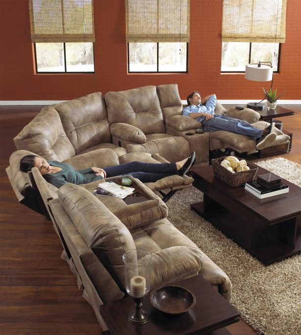 Attractive 6 Person Sectional Sofa Sofa 8 Person Sectional L Shaped Couch Double Chaise Sectional
