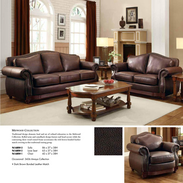 Attractive 6 Piece Living Room Set Homelegance Midwood 6 Piece Living Room Set In Dark Brown Leather