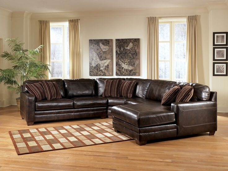 Attractive Ashley Brown Leather Couch 23 Best Leather Sectional Images On Pinterest Diapers Leather