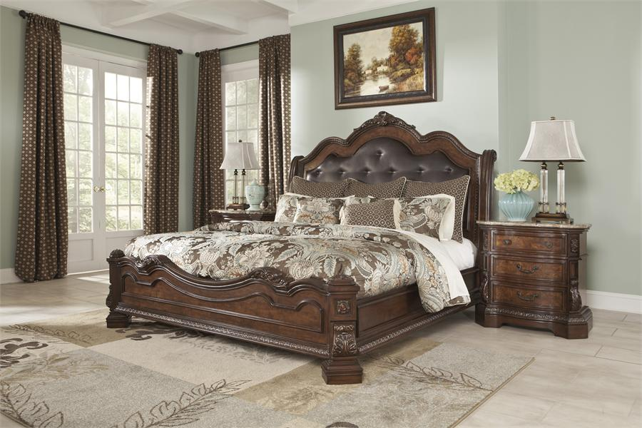 Attractive Ashley Furniture King Bed Frame Ashley Furniture King Sleigh Bed Sets Best Choice Ashley