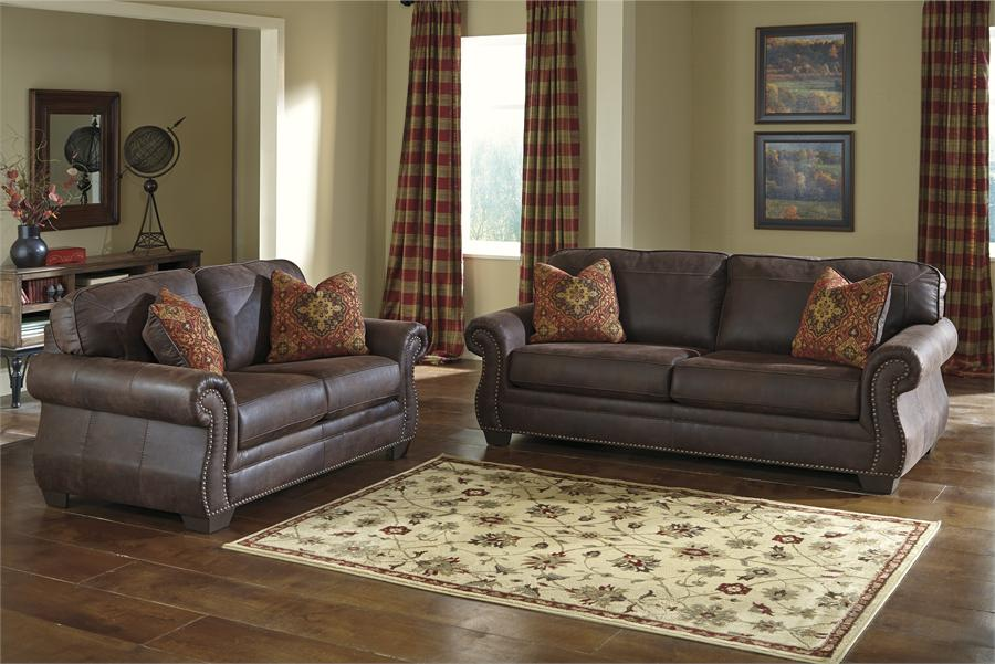 Attractive Ashley Furniture Leather Couch And Loveseat Baltwood Espresso Sofa Ashley Furniture