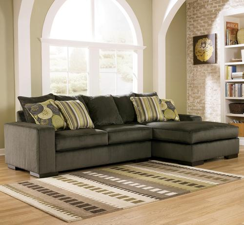 Attractive Ashley Furniture Microfiber Sectional Ashley Furniture Freestyle Pewter Two Piece Sectional Sofa With