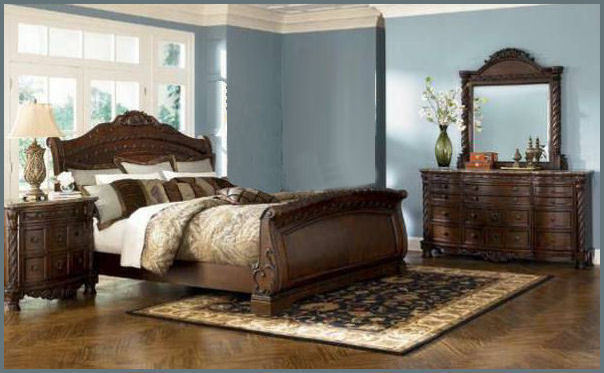 Attractive Ashley Furniture Sleigh Bed Ashley Furniture B553 North Shore King Sleigh Bed 8 Pc Bedroom