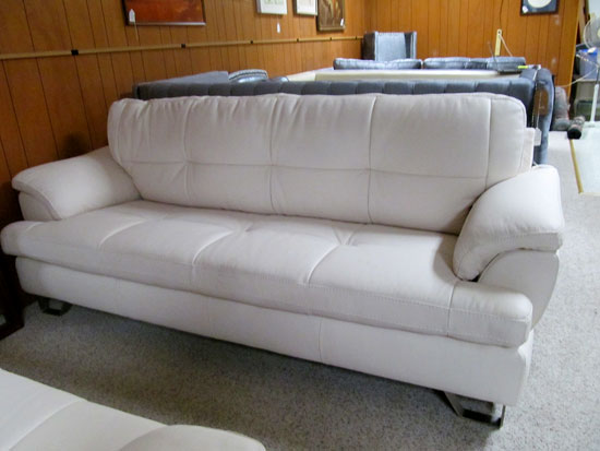 Attractive Ashley Gray Leather Sofa Consignment Furniture Couches Chairs End Tables Coffee Tables