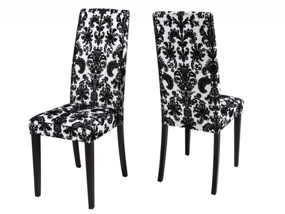 Attractive Black And White Dining Chairs Black And White Dining Chair Pads Dining Chairs Design Ideas