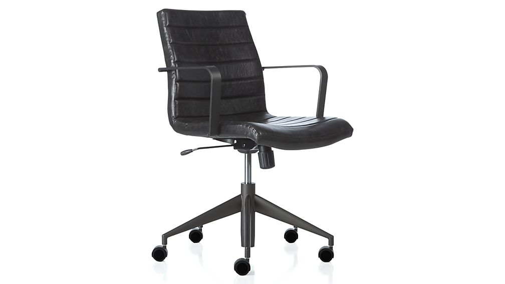Attractive Black Desk Chair Graham Black Office Chair Crate And Barrel