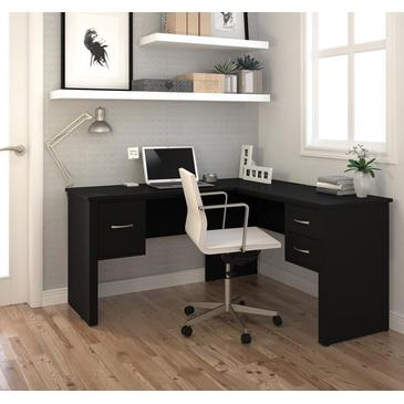 Attractive Black L Shaped Desk Bestar Somerville L Shaped Desk In Black Beyond Stores