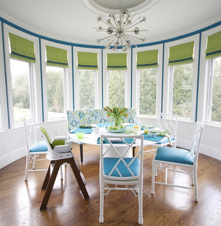 Attractive Blue And White Dining Chairs Round Dining Room With White Bamboo Dining Chairs Contemporary