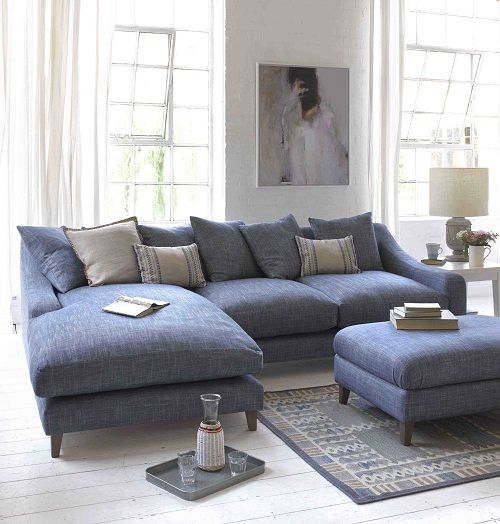 Attractive Blue Leather Chaise Lounge Best 25 Blue Corner Sofas Ideas On Pinterest Corner Sofa Blue