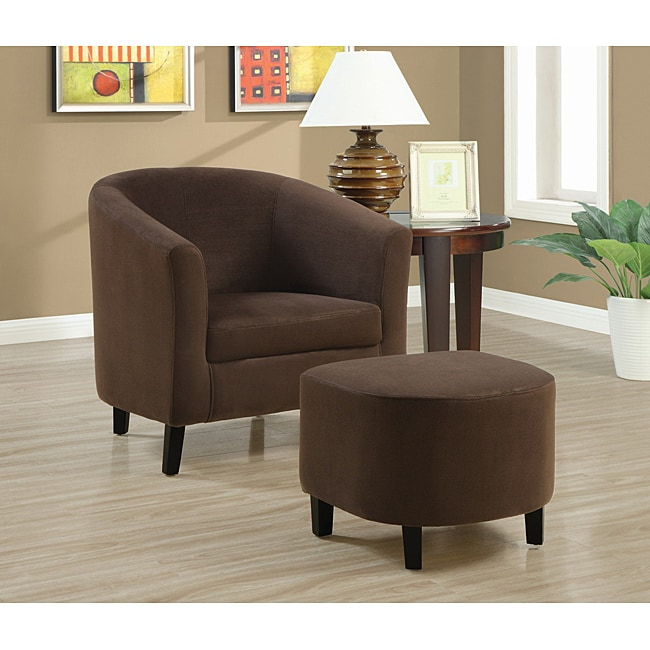 Attractive Brown Accent Chair With Ottoman Chocolate Brown Accent Chair And Ottoman Free Shipping Today