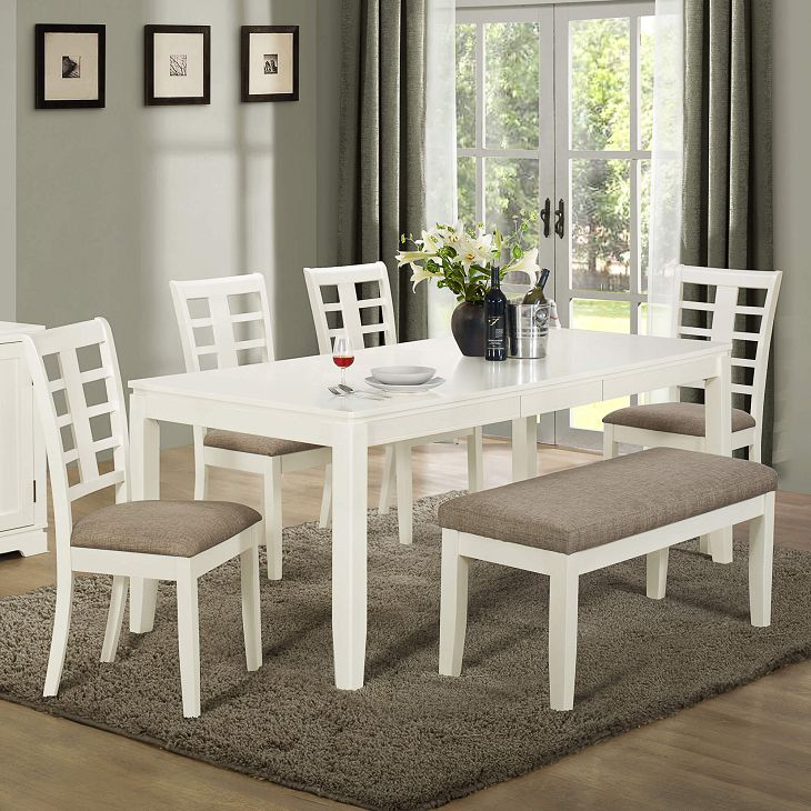 Attractive Brown And White Dining Chairs Marvellous Dining Room Sets Grey Rug White Rectangle Dining Table