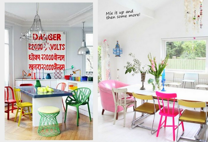 Attractive Colorful Dining Chairs Creative Colorful Dining Chairs With Mix Up Style And Color Of