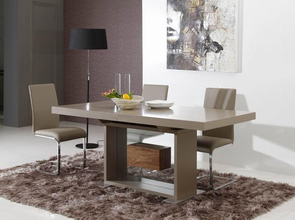 Attractive Contemporary Rectangular Dining Table Dreamfurniture Levi Contemporary Dining Table