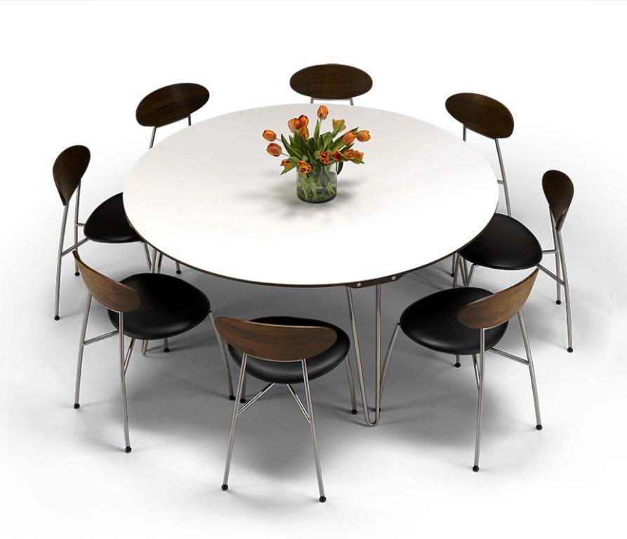 Attractive Contemporary Round Dining Table For 8 Variety Contemporary Round Dining Table Contemporary