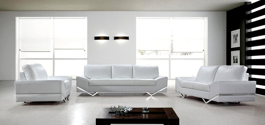 Attractive Contemporary Sofas And Chairs White Modern Sofa Set Vg 74 Leather Sofas