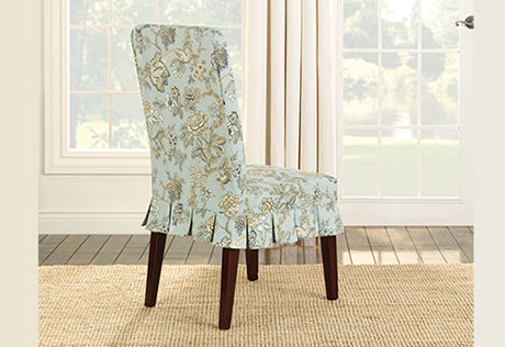 Attractive Covered Dining Chairs Slip Covered Dining Chairs Idea Primedfw