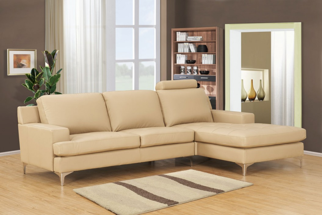 Attractive Cream Leather Chaise Lounge Lounge Couch Chaise Lounge Leather White Leather Sectional Sofa