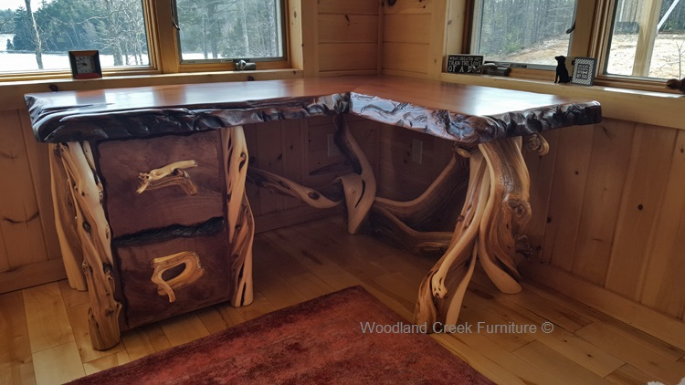 Attractive Custom Made Desks Custom Made Desks Rustic Desk Live Edge Cabin Furniture