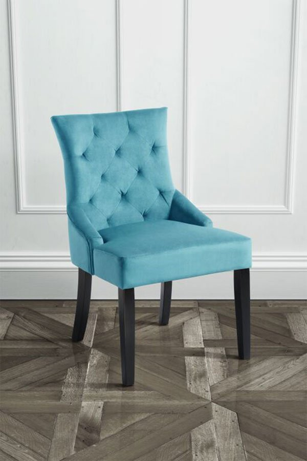 Attractive Dark Teal Dining Chairs Torino Teal Dining Chair Upholstered Scoop Back With Black Legs