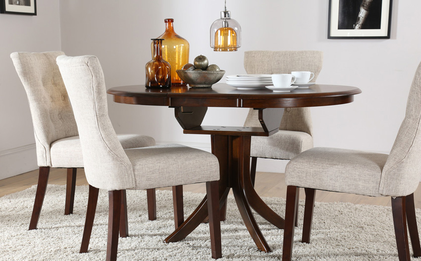 Attractive Dark Wood Round Table Dining Room Fresh Dining Table Sets Pedestal Dining Table In Dark