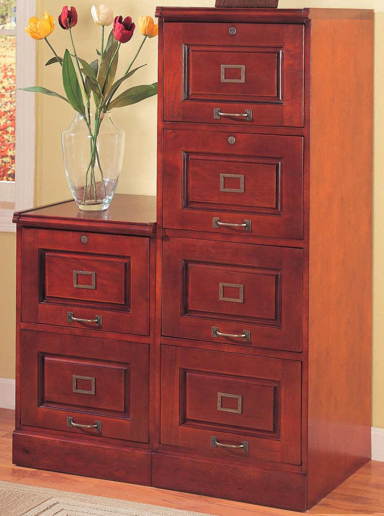 Attractive Decorative File Cabinets For Home Office Fabulous Home Office Filing Cabinet Cherry Finish Home Office File