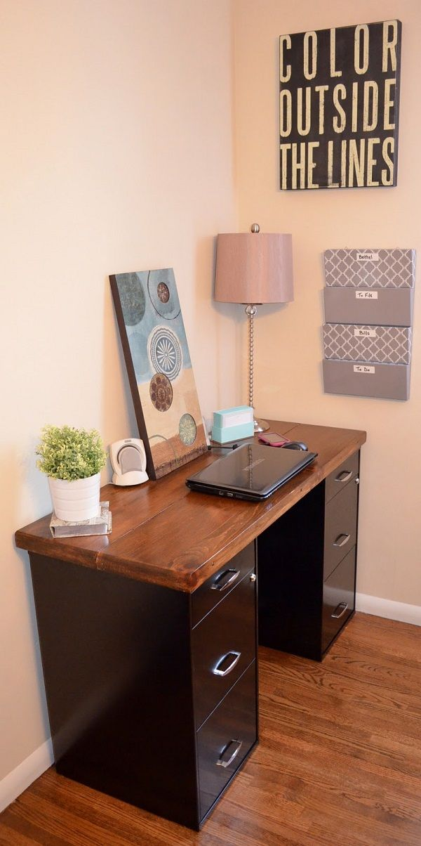 Attractive Desk And File Cabinet Creative Desk Tops Reinvented With Plywood Cardboard And Table