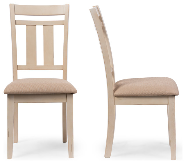 Attractive Dining Side Chairs Roseberry French Antique Oak And Distressed White Dining Side