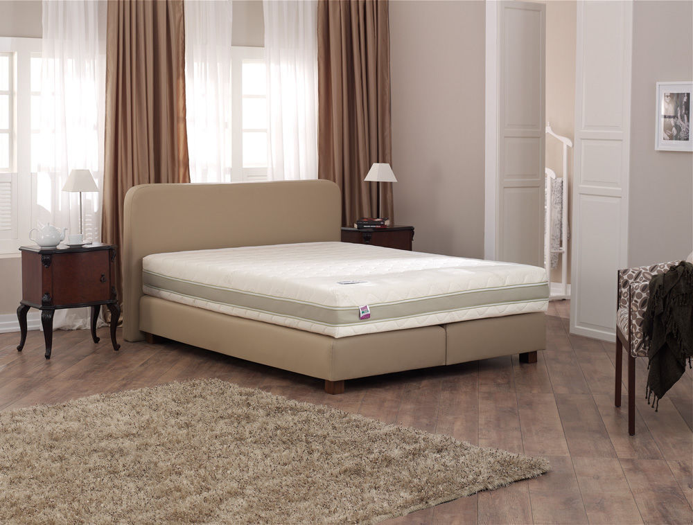 Attractive Double Bed Box Spring Double Bed Contemporary Fabric Leather Royal Box Spring