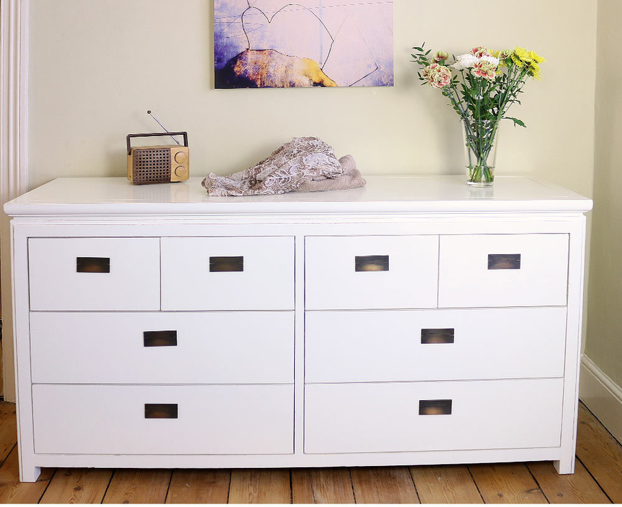 Attractive Double Chest Of Drawers Hanoi White Lacquer Oriental Double Chest Of 8 Drawers Bedroom