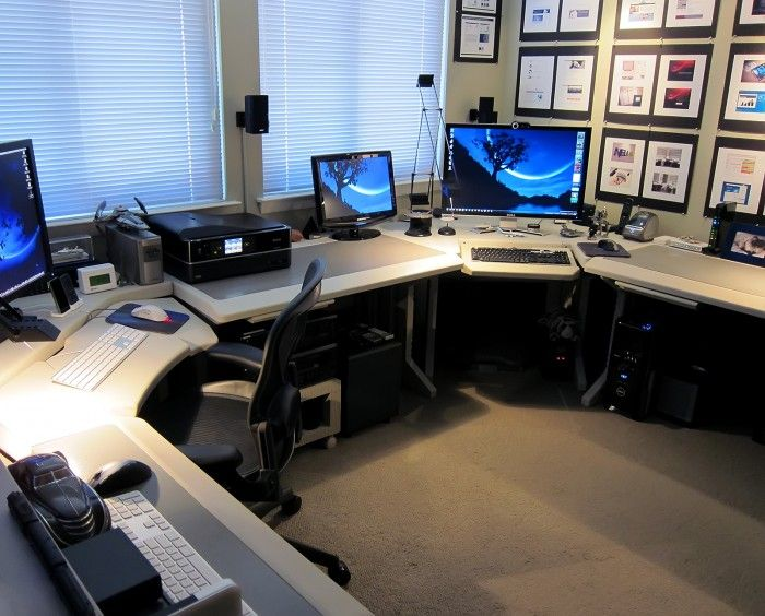 Attractive Dual Monitor Office Setup 37 Best Workspace Multiple Monitor Images On Pinterest Home